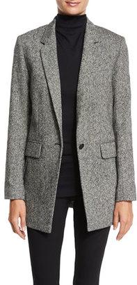 Rag & Bone Ronin Wool-Blend Blazer, Black/White $595 thestylecure.com