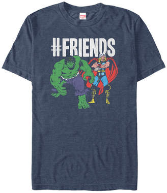 Marvel Men Comic Collection The Hulk and Thor We're friends Short Sleeve T-Shirt