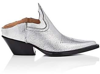 Maison Margiela Women's Cutout Leather Ankle Boots - Silver