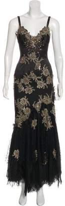 Mandalay Sleeveless Embellished Gown