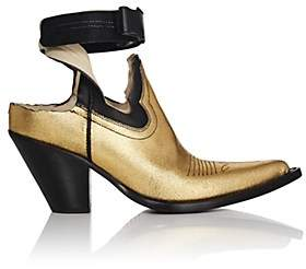 Maison Margiela Women's Vegas Cutout Leather Ankle Boots - Gold