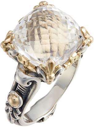 Konstantino Pythia Square Crystal Ring