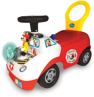 Disney's Mickey Mouse Activity Fire Truck Light & Sound Activity Ride-On Vehicle by Kiddieland