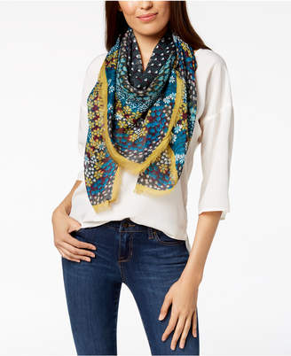 INC International Concepts I.n.c. Mod Dot Floral Square Scarf, Created for Macy's
