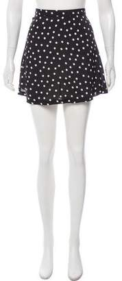 Reformation Polka Dot Mini Skirt