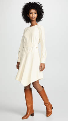 Derek Lam 10 Crosby Long Sleeve Belted Dress