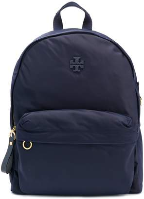 Tory Burch logo zipped backpack
