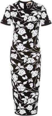 Michael Kors Jacquard-Knit Midi Dress