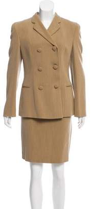Giorgio Armani Wool-Blend Skirt Suit