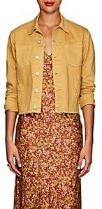 L'Agence Women's Janelle Denim Slim Jacket - Mustard