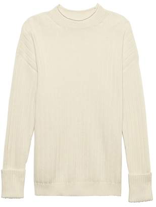 Banana Republic Washable Wool-Cashmere Ribbed Sweater