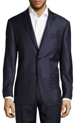 Michael Kors Patterned Wool Suit Jacket