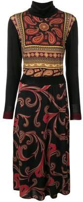 Etro paisley print turtleneck dress