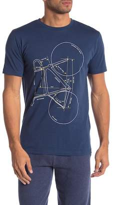 Knowledge Cotton Apparel Bike Graphic Crew Neck Tee