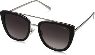 Quay Women's Gradient French Kiss QW-000172-BLK/SMK Cat Eye Sunglasses