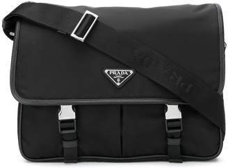 Prada safety buckle fastening shoulder bag