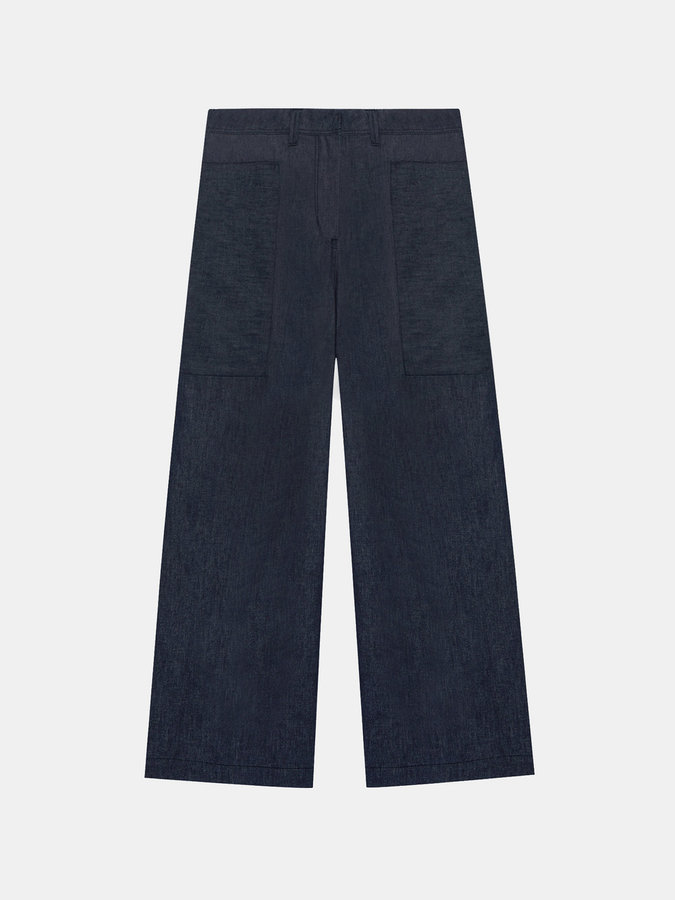 DKNYDkny Pure Wide Leg Pant With Belt Loops