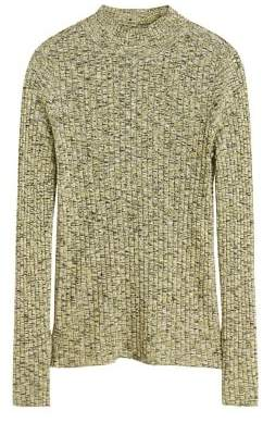 MANGO Flecked rib sweater
