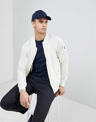 Penfield Okenfield Nylon Bomber Jacket in White