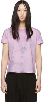 Raquel Allegra Purple Satin Sueded Baby Jersey Boyfriend T-Shirt