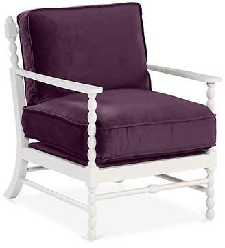 Mr & Mrs Howard Laguna Accent Chair - Fig Velvet