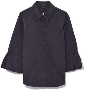 Marc Jacobs Button Down with 3/4 Ruffle Sleeve in Black
