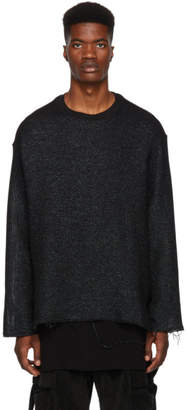 Song For The Mute Black Cropped Pullover