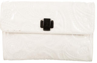 Kate SpadeKate Spade New York Embossed Patent Leather Clutch