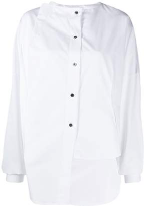 Ji Oh collarless shirt