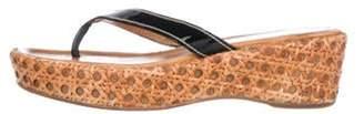 Prada Platform Thong Sandals Black Platform Thong Sandals