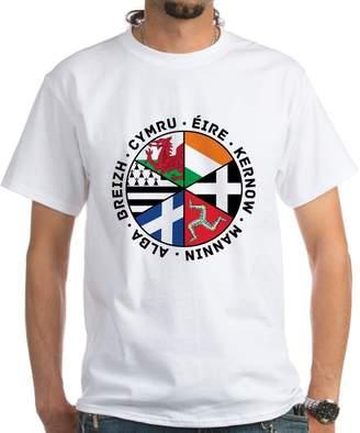 Celtic CafePress Nations Flags Black T-Shirt - 100% Cotton T-Shirt