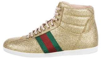 Gucci Web High-Top Sneakers