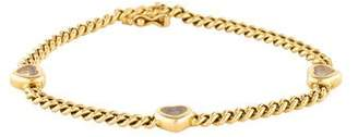 Chopard 18K Happy Diamond Heart Link Bracelet
