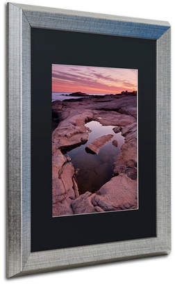 Pool' Trademark Global Michael Blanchette Photography 'Tide Pool Geometry' Matted Framed Art