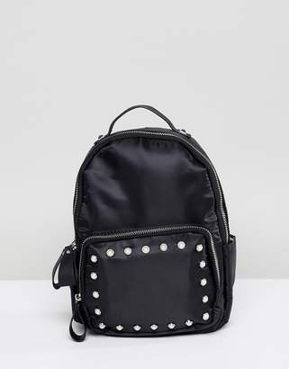 at ASOS · Yoki Fashion Mini Satin Backpack with Pearl Embellishment 75ac9a5736