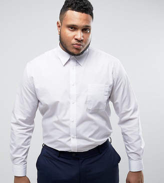 Duke King Size Smart Shirt In White With Long Sleeves
