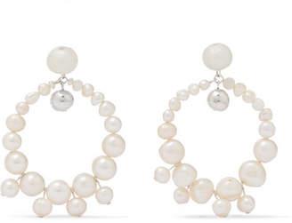Dinosaur Designs Pearl Earrings - White