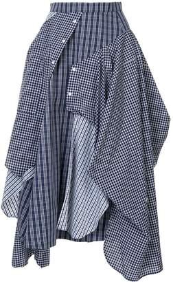 Enfold deconstructed shirt-skirt