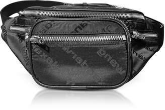 Alexander Wang Attica Black AW Jacquard Logo Soft Fanny Pack/Belt Bag