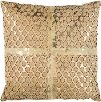 Safavieh Metallic Fin Cowhide Pillow
