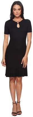 MICHAEL Michael Kors Ring Keyhole Rib Dress Women's Dress
