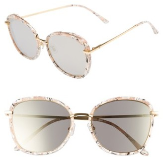 Women's Gentle Monster Switch Back 58Mm Rounded Sunglasses - Marble Mirror $260 thestylecure.com