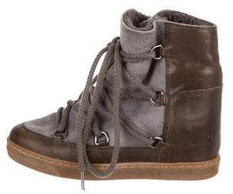 Etoile Isabel Marant Nowles Wedge Boots