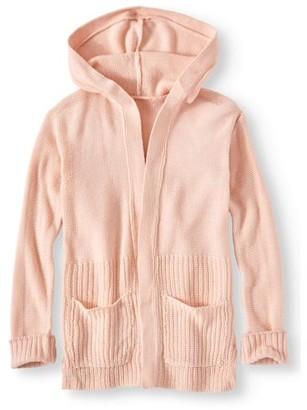 Pink Angel Hooded Long Cardigan Sweater (Little Girls & Big Girls)