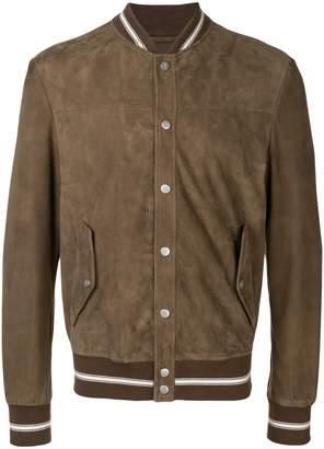 Eleventy snap-button bomber jacket