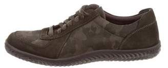 John Varvatos Camouflage Suede-Trimmed Sneakers w/ Tags