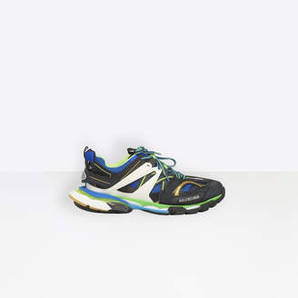 Balenciaga Track trainers in black, blue and green mesh and nylon