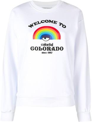 Chiara Ferragni Rainbow print sweater