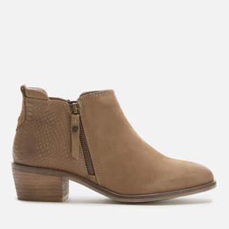 Dune Women's Putnum Nubuck Flat Ankle Boots