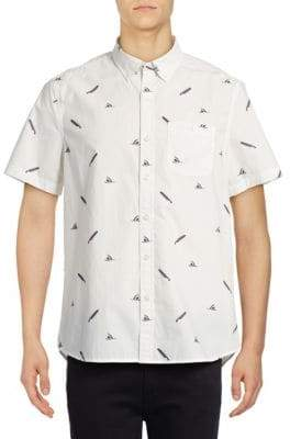 Michael Bastian Shark Bite Printed Sport Shirt